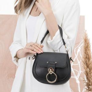 Melie Bianco Bags - Ariel Black Luxury Vegan Leather Shoulder Bag